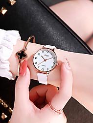 preiswerte -Damen Quartz Uhr Freizeit Modisch Schwarz Weiß Rosa TPU Chinesisch Quartz Weiß Schwarz Rosa Neues Design Armbanduhren für den Alltag 1 Stück Analog Ein Jahr Batterielebensdauer