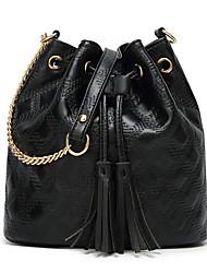 Χαμηλού Κόστους -Γυναικεία Τσάντες PU Σταυρωτή τσάντα Συμπαγές Χρώμα Χρυσό / Μαύρο / Ρουμπίνι