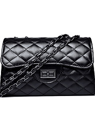 cheap -Women's Bags PU(Polyurethane) Crossbody Bag Solid Color Black