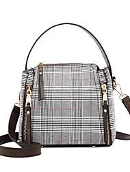 Χαμηλού Κόστους -Γυναικεία Τσάντες PU Τσάντα χειρός Συμπαγές Χρώμα Μαύρο / Ρουμπίνι