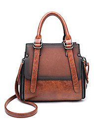 cheap -Women's Bags PU(Polyurethane) Top Handle Bag Solid Color Blue / Black / Brown