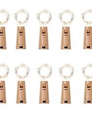 Недорогие -Loende Barisc винные фонари с пробкой 10 упаковок светодиодные фонари аккумулятор 20 светодиодов серебряный медный провод водонепроницаемый