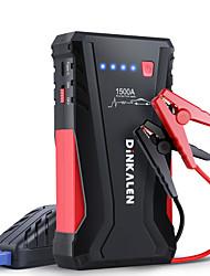 Недорогие -автомобильный стартер dinkalen 1500a пиковый 12v автомобильный аккумуляторный стартер (до 8 л для бензина или 6 л для дизеля) портативный блок питания с интеллектуальными перемычками для быстрой