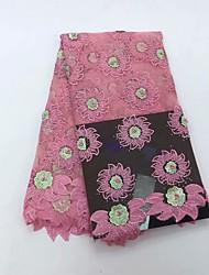 levne -Africké krajky květiny Vzor 130 cm šířka tkanina pro Zvláštní příležitosti prodáno podle 5Yard