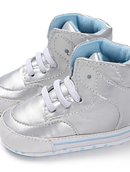 olcso -Fiú / Lány PU Csizmák Csecsemők (0-9m) / Tipegő (9m-4ys) Első cipő Arany / Fekete / Ezüst Ősz / Tél