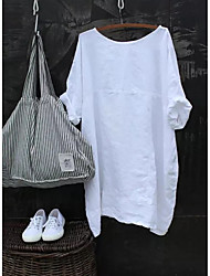 levne -Dámské - Jednobarevné Tričko Bílá US6