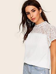 olcso -Női Póló - Egyszínű Fehér US6