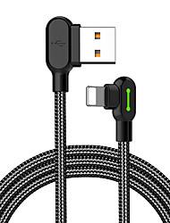 Недорогие -Подсветка Кабель 1.8M (6 футов) Плетение / Быстрая зарядка Нейлон Адаптер USB-кабеля Назначение iPhone