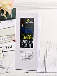 Недорогие -Точность ts-74 Беспроводной цифровой термометр для наружного освещения с подсветкой часов Часы метеостанции ЕС Plug / US Plug (белый)