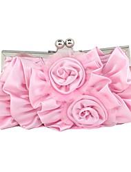Недорогие -Жен. Цветы Шелк Вечерняя сумочка Сплошной цвет Розовый / Лиловый / Пурпурный / Наступила зима