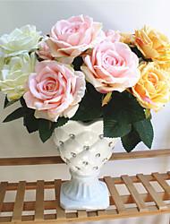 preiswerte -Künstliche Blumen 1 Ast Klassisch Europäisch Hochzeitsblumen Rosen Ewige Blumen Tisch-Blumen