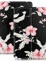Недорогие -чехол для амазонки kindle paperwhite 4 / paperwhite 3 (выпуск 3-го поколения 2015 г.) магнитный / откидной / с подставкой для всего тела с цветочным принтом из искусственной кожи для kindle paperwhite