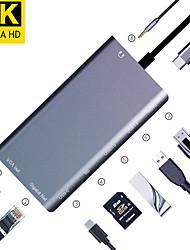 Недорогие -maikou 8in1 тип c концентратор USB 3.1 для SD-карты / RJ45 / USB 3.0 / VGA / HDMI USB-концентратор 8 поддерживает функцию доставки питания с карт-ридер