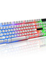 Недорогие -LITBest K6 USB Проводной Игровые клавиатуры Игры Водонепроницаемость Мульти цвет подсветки 104 pcs Ключи