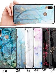 Недорогие -Кейс для Назначение Huawei Huawei Honor 10 / Honor 10 Lite / Honor 9 С узором Кейс на заднюю панель Мрамор Твердый Закаленное стекло