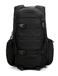 olcso -Katonai taktikai hátizsák 40 L - Lélegzési képesség Viselhető Nagy rugalmasságú Upijanje znoja Külső Vadászat Túrázás Kemping Oxford Fekete