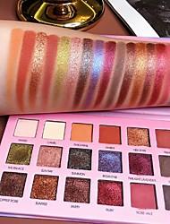 Недорогие -18 цветов лазерная поляризация дуохрома 18 цветов палитра теней для век с ярким блеском блестящая палитра теней для век
