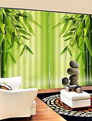 Недорогие -3d китайский бамбук печатных пользовательские конфиденциальности две панели полиэфирные шторы для наружной гостиной декоративные водонепроницаемый пылезащитные шторы высокого качества