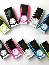 Недорогие -Горячие продажи блестящий мини-USB-клип ЖК-экран mp3 медиа-плеер