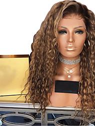Недорогие -Парики из искусственных волос Афро Квинки Стиль Стрижка каскад Без шапочки-основы Парик Светло-золотой Искусственные волосы 50~56 дюймовый Жен. синтетический Светло-коричневый Парик Средняя длина