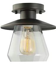 Недорогие -Круглый подвесной светильник, окрашенный с гальваническим покрытием металла 220v / 110v теплый белый / с возможностью затемнения с пультом дистанционного управления / холодный белый