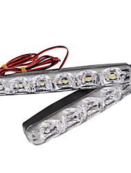 Недорогие -2шт 6-светодиодные фары дневного света drl противотуманные фары дневного света 12 В для всех автомобилей