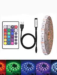 Недорогие -Loende водонепроницаемый USB DC 5 В 5 м светодиодные ленты 5050 RGB ленты ТВ фоновое освещение DIY домашний декоративный светильник с 44key контроллер комплект