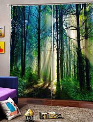 Недорогие -Роскошные оптовые пользовательские 3d уф-печать много лотов оконные шторы, сделанные в китае 100% полиэстер затемняющая ткань для спальни / гостиной / отеля / балкона