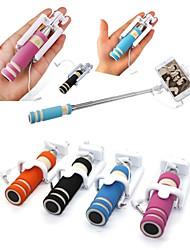 Недорогие -мини-мода регулируемый ручной селфи палку управления проводами портативный выдвижной мобильный телефон селфи палочки