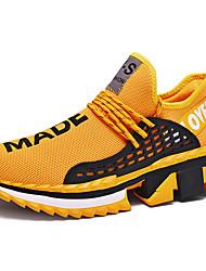 Недорогие -Муж. Комфортная обувь Tissage Volant Весна / Осень Спортивная обувь Беговая обувь Дышащий Черный / Белый / Желтый
