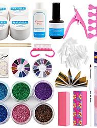 Недорогие -маникюрный набор инструментов набор для ногтей комплект ультрафиолетовых светодиодных ламп ультрафиолетовый гель наконечник