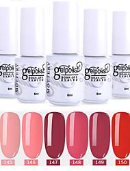 Недорогие -лак для ногтей 6 шт. цвет 145-150 xyp soak-off uv / led gel лак для ногтей сплошной цвет лак для ногтей наборы