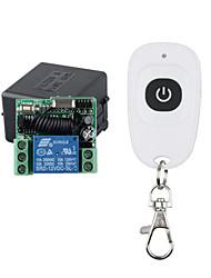 Недорогие -DC12V 1-канальный обучающий код переключатель дистанционного управления / 433 МГц, реле 10a / мгновенный приемник / 1-кнопочный пульт 433 МГц