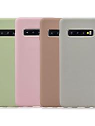 Недорогие -Кейс для Назначение SSamsung Galaxy S9 / S9 Plus / S8 Plus Матовое Кейс на заднюю панель Однотонный ТПУ
