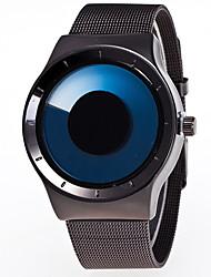 Недорогие -Муж. Нарядные часы Кварцевый Нержавеющая сталь Синий / Зеленый / Роуз Повседневные часы Аналоговый Мода - Пурпурный Зеленый Светло-синий