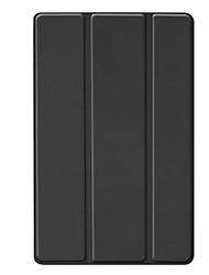 Недорогие -Кейс для Назначение SSamsung Galaxy Samsung Tab A 10.1 (2019) T515 Защита от удара Чехол Однотонный Твердый Кожа PU / ПК