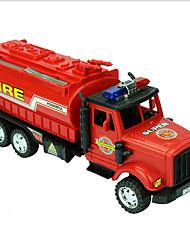 Недорогие -Дети Мягкие пластиковые пластик Пожарная машина Игрушечные грузовики и строительная техника Игрушки на солнечных батареях 1:32 / Ручная работа