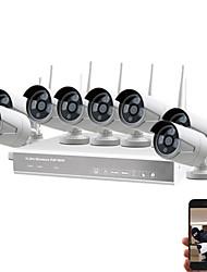 Недорогие -sunsee digital k8208w-pe2020ek738ch 1080p p2p vga / hdmi diy для домашнего использования беспроводной комплект nvr ip66 Водонепроницаемая камера видеонаблюдения ip-система видеонаблюдения wifi ip kit