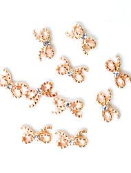 abordables -10 unids / pack 3d aleación de metal diseño de uñas decoraciones joyas gema 14 estilos de diseño de manicura accesorio