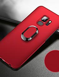 Недорогие -Кейс для Назначение SSamsung Galaxy S9 / S9 Plus / S8 Plus Защита от удара / со стендом / Кольца-держатели Кейс на заднюю панель Однотонный Твердый ПК / Металл / Ультратонкий