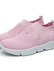 Χαμηλού Κόστους -Γυναικεία Αθλητικά Παπούτσια Επίπεδο Τακούνι Φουσκωτό πηνίο Τρέξιμο Άνοιξη & Χειμώνας Μαύρο / Γκρίζο / Ροζ