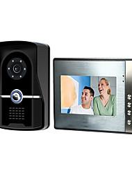 Недорогие -7-дюймовый проводной видео дверной звонок HD вилла видео домофон наружный блок ночного видения функция разблокировки дождя
