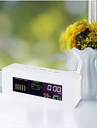 Недорогие -ts-s65 цифровой жк-термометр гигрометр 050 термометр с функцией будильника цветовой дисплей прогноз погоды часы