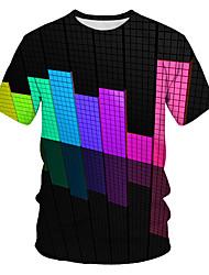 povoljno -Majica s rukavima Muškarci Ležerno / za svaki dan Geometrijski oblici Duga US42 / UK42 / EU50