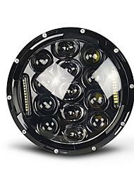 Недорогие -проектор 7 дюймов 75 Вт светодиодный дневной свет мотоцикла фары черный Harley Street Glide Softtail FLX Fld (подходит для Harley-Davidson)