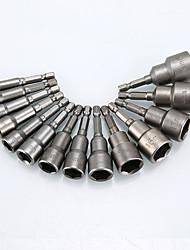 Недорогие -9шт магнитный наконечник быстроразъемной отвертки 1/4 шестигранный хвостовик 6мм-14мм электрический держатель отвертки втулка сверла