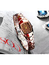 Недорогие -Жен. Кварцевые Новое поступление Элегантный стиль Серебристый металл Розовое золото Нержавеющая сталь Китайский Кварцевый Серебряный Розовое Золото Защита от влаги Повседневные часы Имитация Алмазный