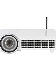 Недорогие -htp ультра-короткие метания dlp-100 1080p 3d домашний кинотеатр кинотеатр full hd 1280 * 800 мини-проектор портативный hdmi usb