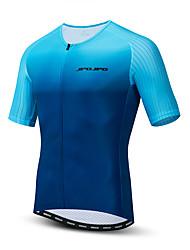 hesapli -JPOJPO Erkek Kısa Kollu Bisiklet Forması Mavi Bisiklet Tracksuit Forma Üstler Nefes Alabilir Spor Dalları Polyester Elastane Terylene Dağ Bisikletçiliği Yol Bisikletçiliği Giyim / Mikro-Esnek