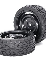 Недорогие -2 * 1/10 Scale RC Car Tire & Wheel - 2pcs Other Ластик Неприменимо